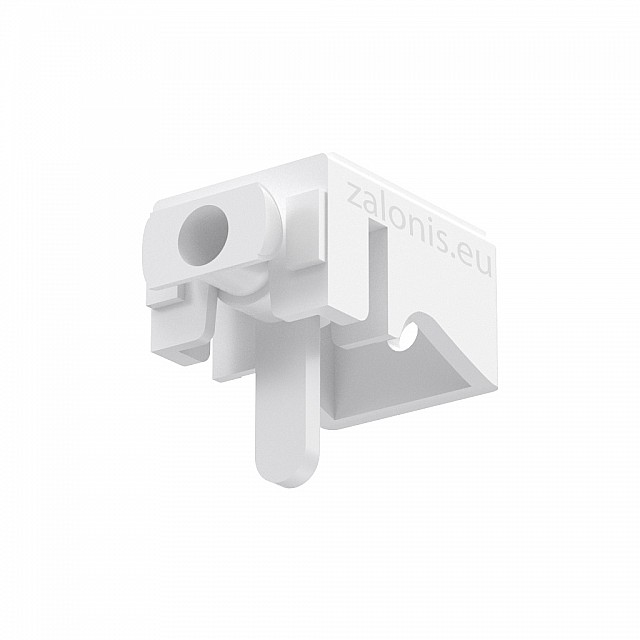 LEVERLOCK CURTAIN RAIL BRACKET / WHITE